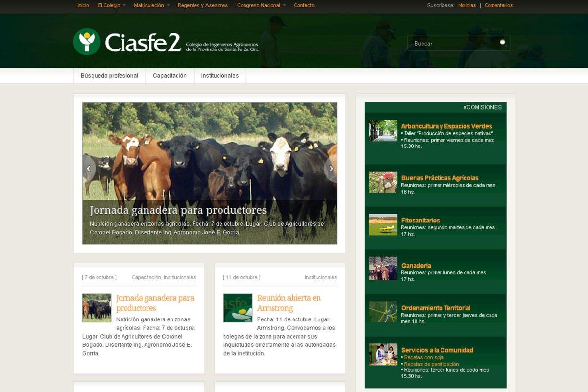 Ciasfe2. Entidad gremial. Sitio web 2011