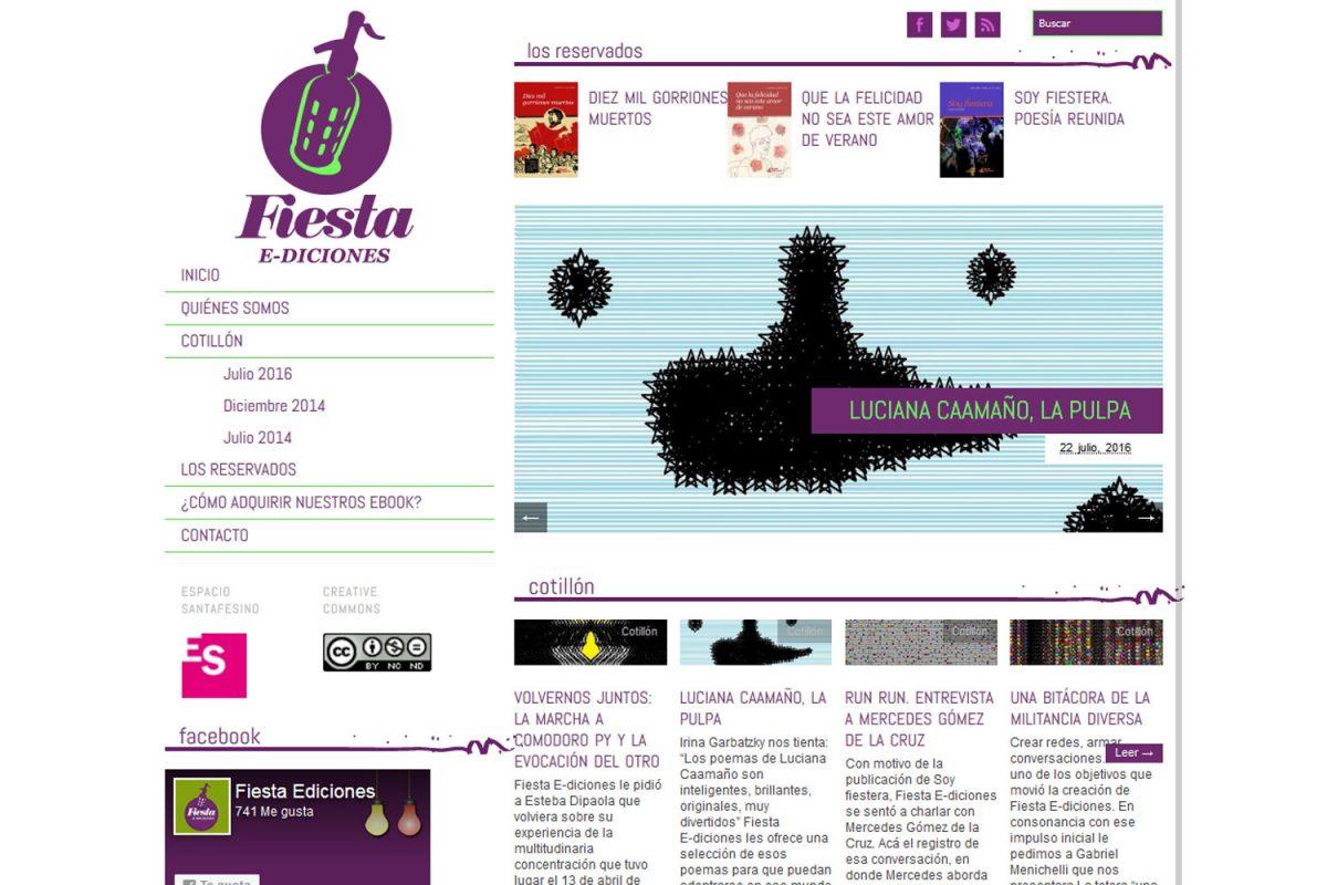 Fiesta Ediciones. Libros digitales. Sitio web 2013