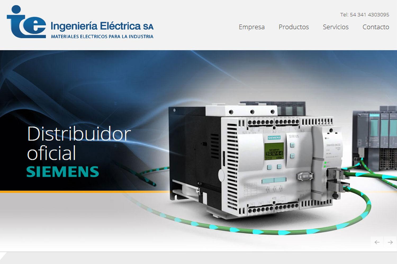 Ingeniería Eléctrica. Distribuidora industrial. Sitio web 2016