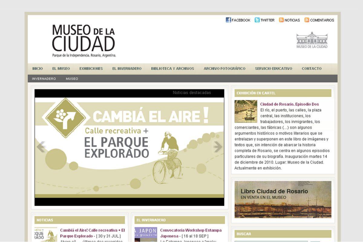 Museo de la Ciudad. Entidad gubernamental. Sitio web