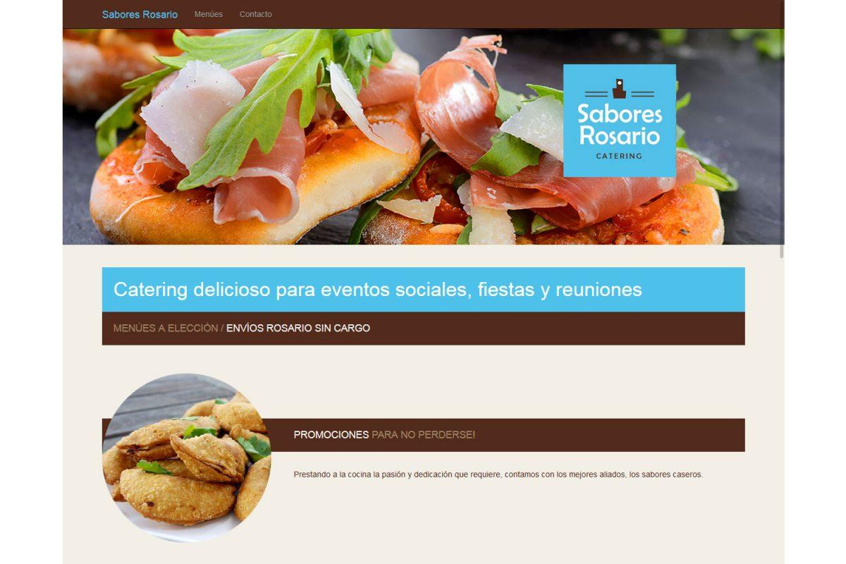 Sabores Rosario. Catering. Landing page 2015