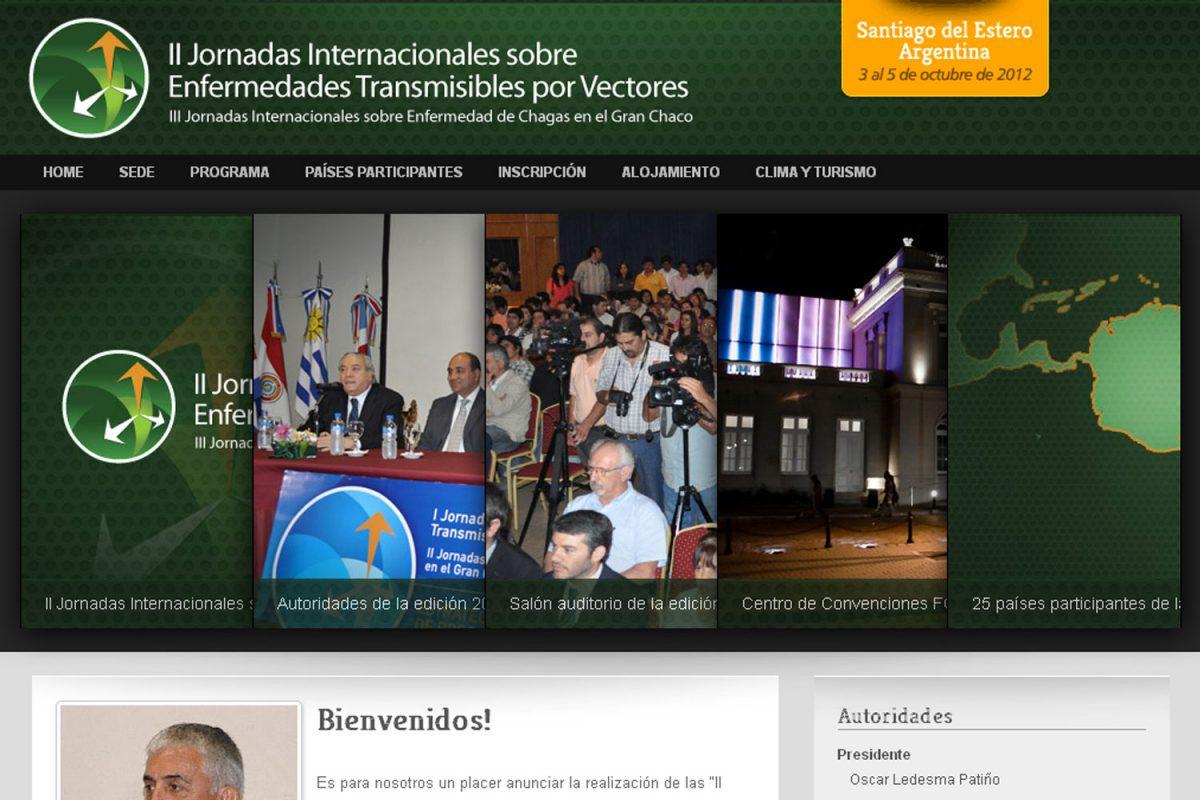 Vectores 2012. Congreso de salud. Sitio web 2012